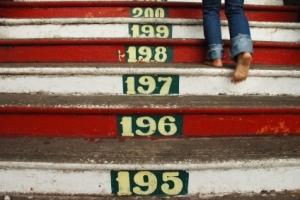 gå trapp