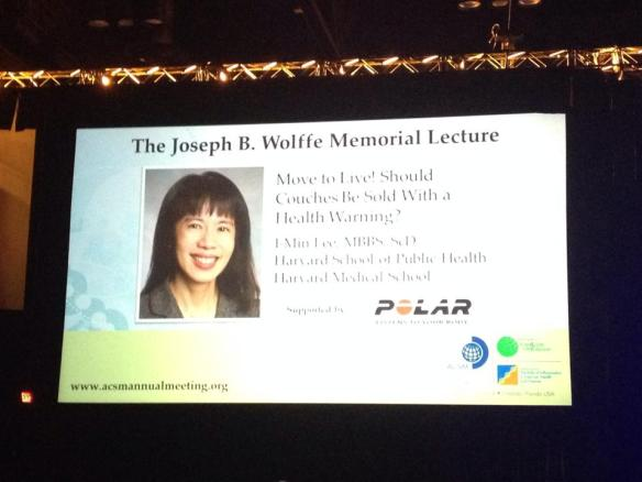 The Joseph B. Wolffe Memorial Lecture at ACSM 2014.
