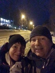 """""""Min første selfie sammen med kona som støtter opp 100%"""""""